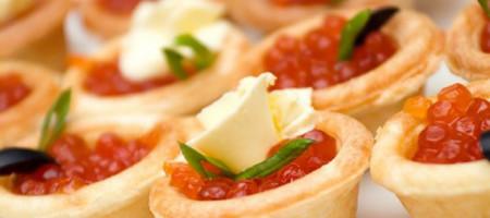 Тарталетки с икрой и сливочным сыром 2шт